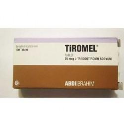 Tiromel 25 Mcg 100 Tablets ingredient Triiodothyronine